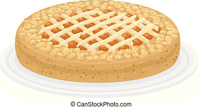 Food Austria Linzertorte Illustration - Illustration of a...