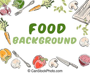 Food background banner.