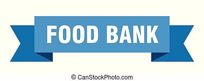 food bank ribbon. food bank isolated sign. food bank banner