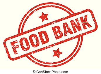 food bank round grunge isolated stamp