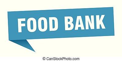 food bank speech bubble. food bank sign. food bank banner