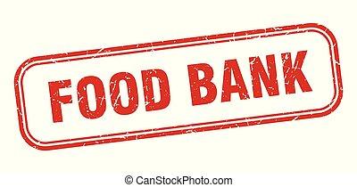 food bank stamp. food bank square grunge sign. food bank