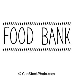 food bank stamp on white