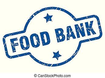 food bank vintage stamp. food bank sign