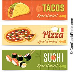 Food Banners Set