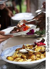 Food being served