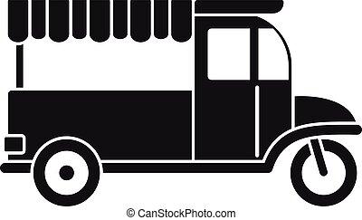 Food bike icon, simple style