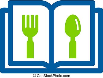 Food Book Logo Icon Design