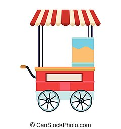 Food booth cart