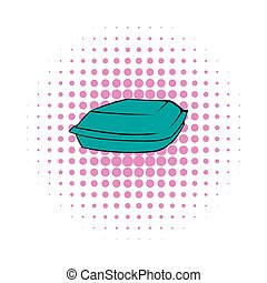 Food box icon, comics style