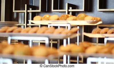 Food buffet in a luxury hotel. Catering concept