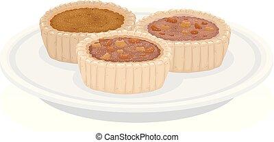 Food Canada Butter Tart Illustration - Illustration of ...