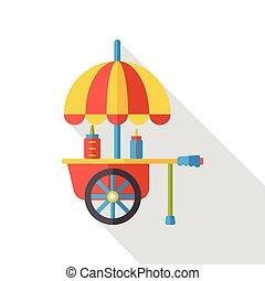 food cart flat icon