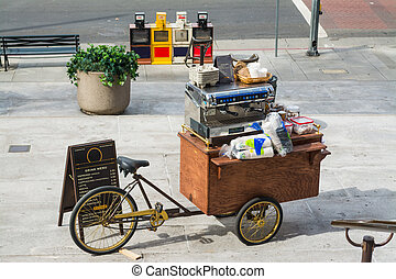 food cart in downtown Los Angeles