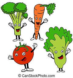 Food Cartoon Characters