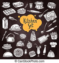 Food Chalkboard Set