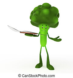 Food character - broccoli