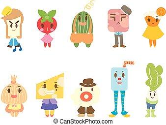 Food Character Cartoon