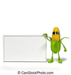 Food character - corn cob
