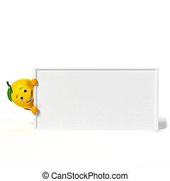 Food character - lemon - 3d rendered illustration of a lemon...