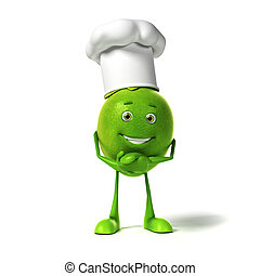 Food character - lime