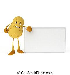 Food character - potato