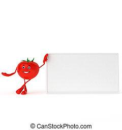 Food character - tomato