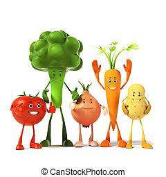 food character - vegetable