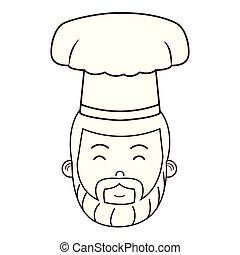 food chef face cartoon