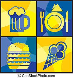 food color cross