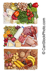 Food combining groups - Food combining concept - three...