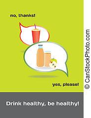 Food concept healthy-unhealthy