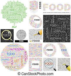 Food. Concept illustration.