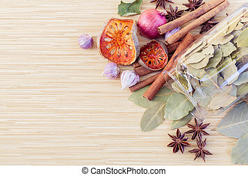 Food Cooking ingredients. - spice tast with copy space.