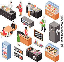 Food Court Elements Set