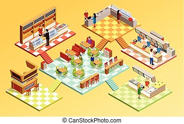 Food court Clipart and Stock Illustrations. 1,962 Food ...