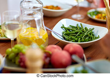 vegetable salad in bowl on wooden table