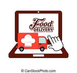 food delivery design, vector illustration eps10 graphic