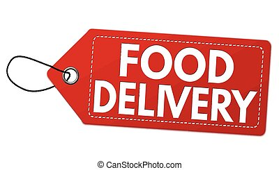 Food delivery label or price tag