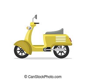 Food delivery moped isolated vector icon