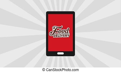 food delivery online - smartphone food delivery service...