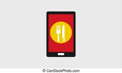 food delivery related - smartphone navigation map location...