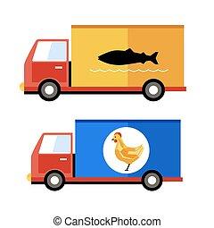 Food delivery, vector illustration