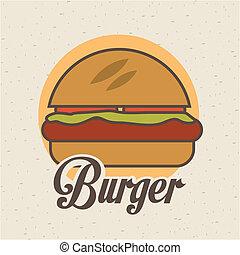 Food design over beige background, vector illustration