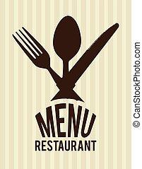 Food design over beige background vector illustration - Food...