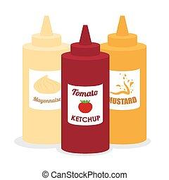 Food design , vector illustration. - Food design over white...