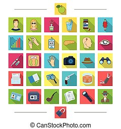 Food, diet, tools and other web icon in cartoon style . Mail, bank, robbery, icons in set collection.