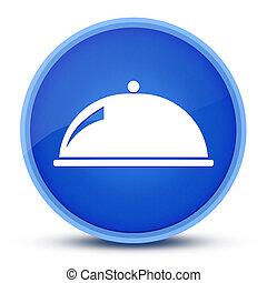 Food dish icon isolated on special blue round button abstract