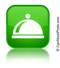 Food dish icon special green square button