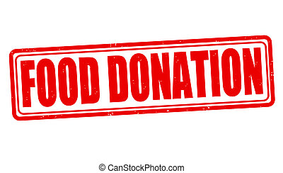 Food donation stamp